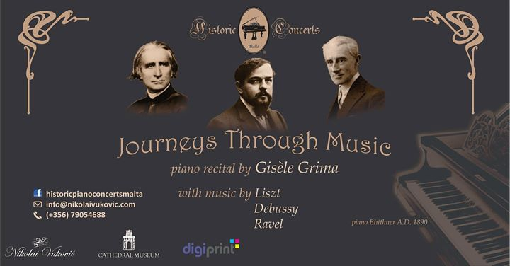 Journeys Through Music - piano recital by Gisèle Grima