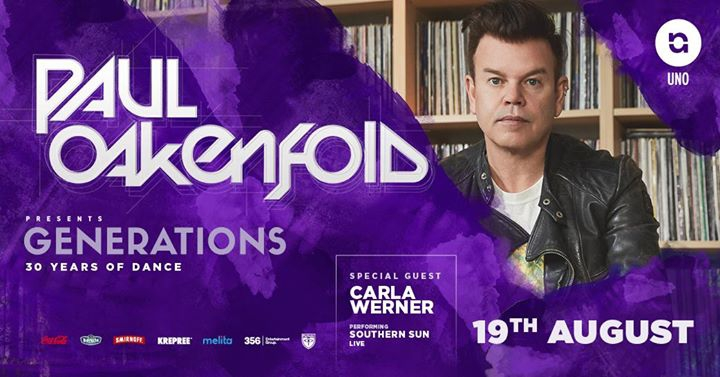Paul Oakenfold presents Generations - 19.08.17