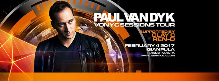 PAUL VAN DYK - 04.02.17 at Gianpula Rabat, Malta