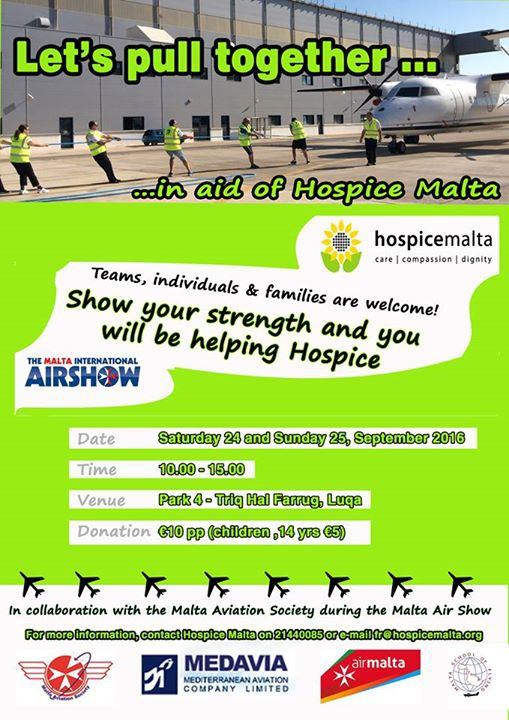 Plane pull for Hospice Malta