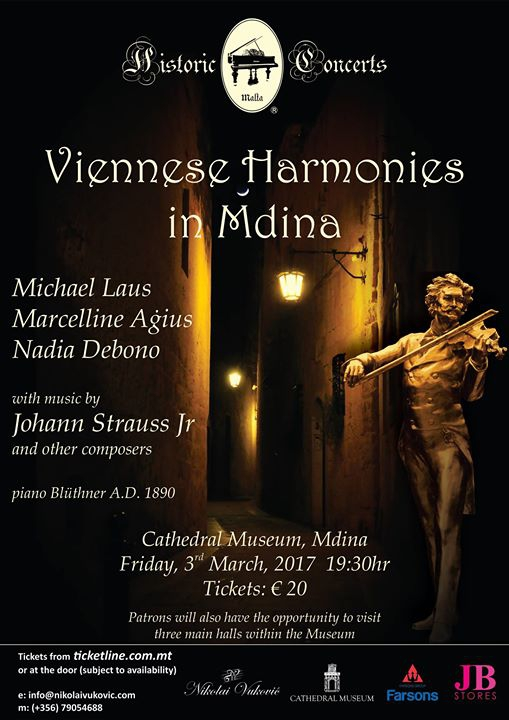 Viennese Harmonies in Mdina - featuring The Goldberg Trio