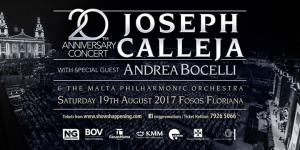 Joseph Calleja Concert 2017 with Andrea Bocelli
