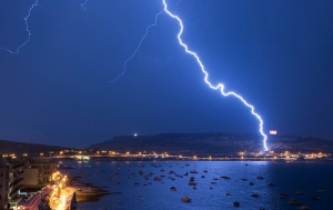 Lightning strike Mellieha Bay