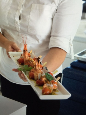 Prawn Brochettes prepared by Private chefs in Marbella