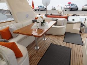 Inside the yacht