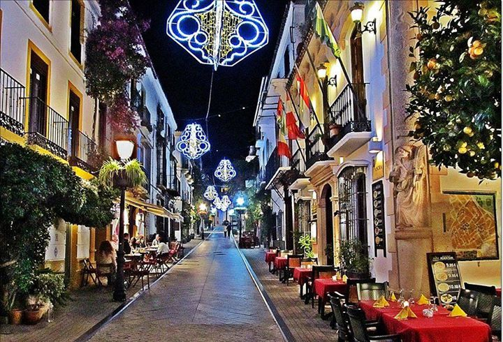 Christmas lighting in Marbella