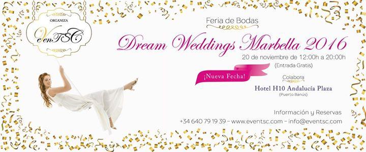 "Feria De Bodas "" Dream Weddings Marbella 2016"""