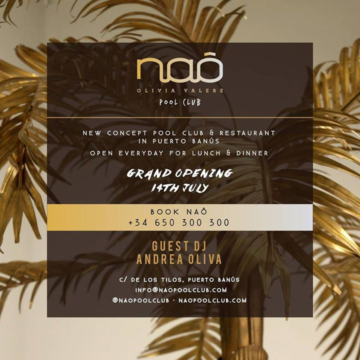 Grand Opening Naô Pool Club 14th July
