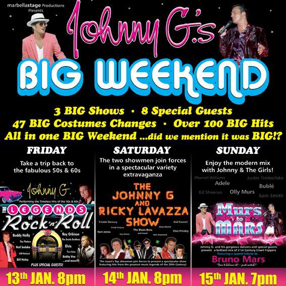 Johnny G.´s BIG Weekend