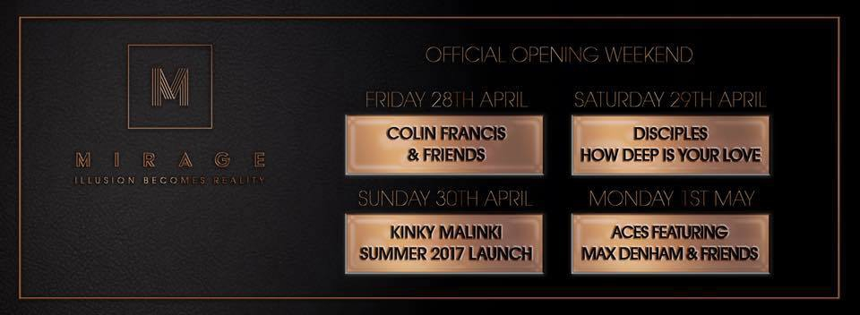Mirage Launch Party with DJ Colin Francis