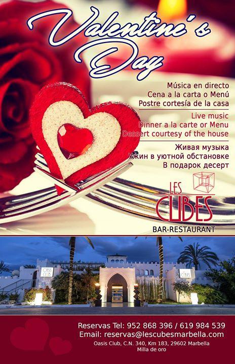 San Valentín en Les Cubes Marbella