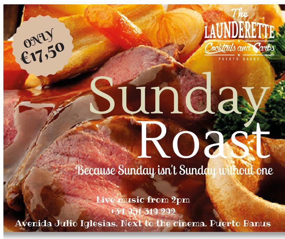 Sunday Roast and Live Music at The Launderette