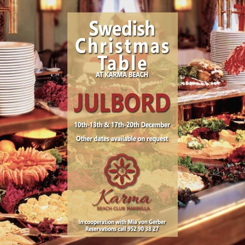Swedish Christmas Table At Karma Beach