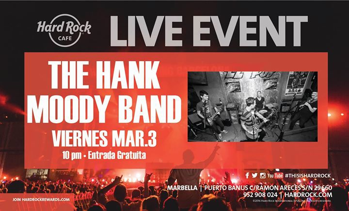 The Hank Moody Band en Hard Rock Cafe Marbella