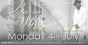 Barry White Tribute Night