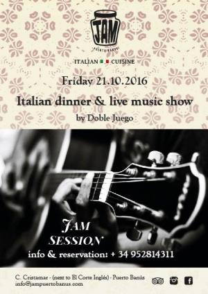 Italian Dinner & Live Music Show