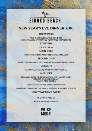 New Year's Eve at Siroko Beach