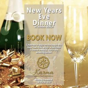 New Years Eve Dinner at Karma Beach