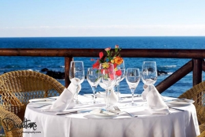 Dining with amazing views at El Oceano