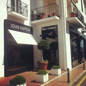 Luxury shopping in Puerto Banus
