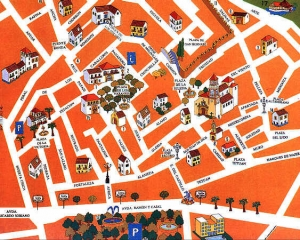 Map of the old town