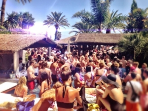 Sala Beach packed out at their LoveJuice event