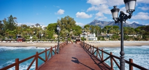 View from the pier at Marbella Club Hotel