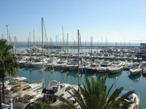 Yachts at Estepona port