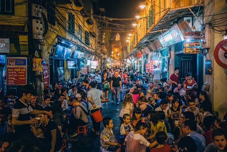 An alley of Hanoi