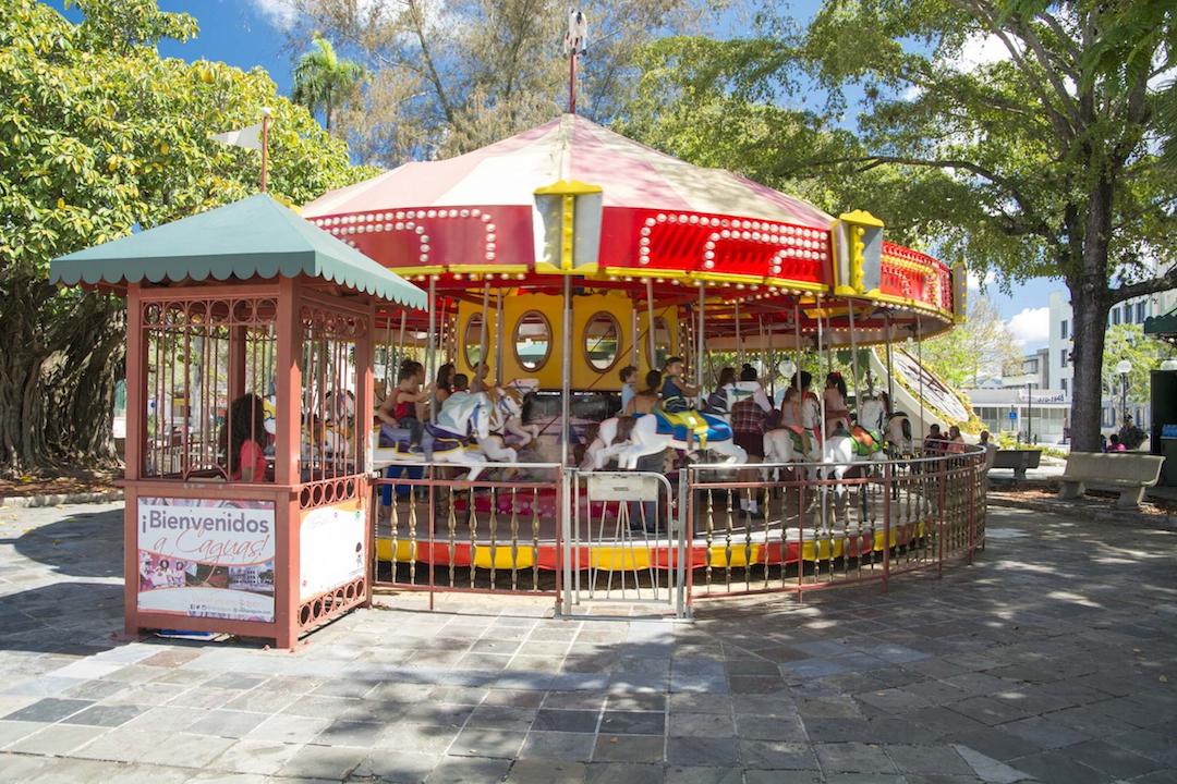 carousel at Santigo R. Palmer Plaza in Caguas, Puerto Rico