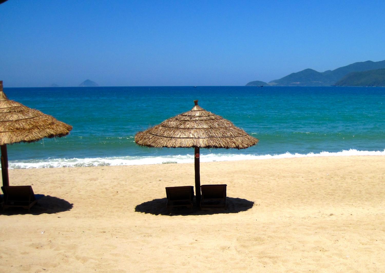 Nha Trang's pristine coastline runs along the eastern edge of the city