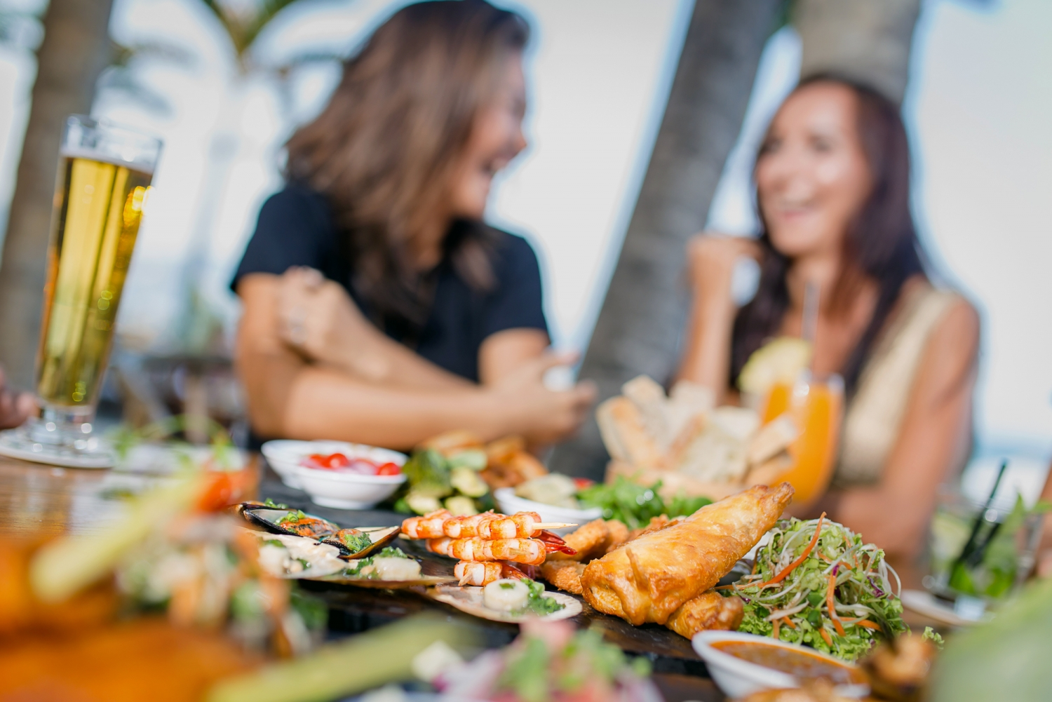Enjoy some deliciously fresh seafood (BBQ'sare the best!) at one of the local stalls