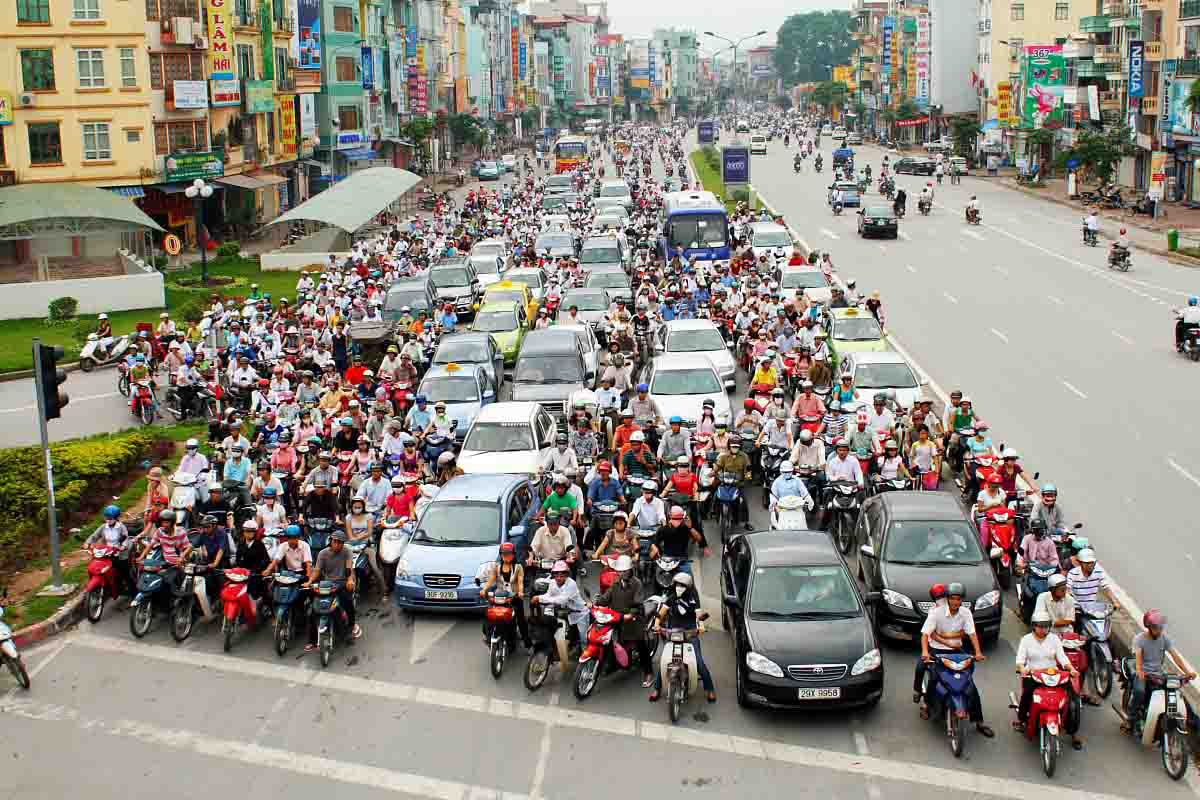 Traffic jams in Vietnam only frequently take place in Hanoi capital and Ho Chi Minh City