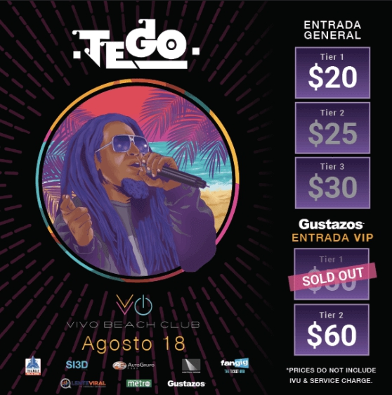 Tego Calderón event flyer