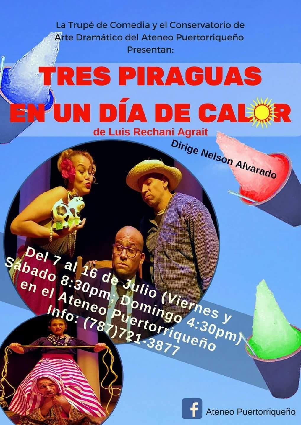 Tres Piraguas en un día de calor flyer event in puerto rico