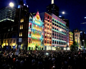 City lights up for White Night