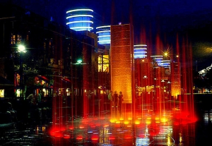 Crown Casino light and water show