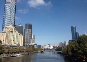 Flinders Bridge toward Crown Casino - Leanne Freel