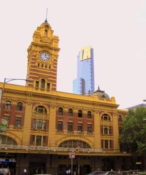Flinders Station and Eureka Tower