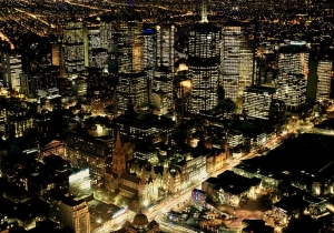 Melbourne CBD from Eureka Tower