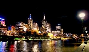 Melbourne lights up the sky