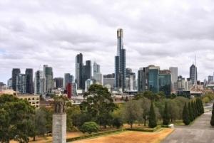 Melbourne skyline plus Kings Domain Gardens