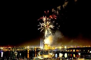 New Year's celebrations : Westgate Bridge