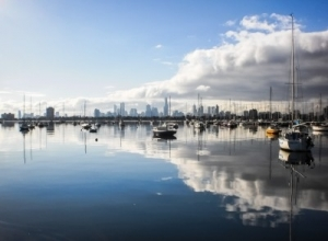 View of Melbourne City from St Kilda