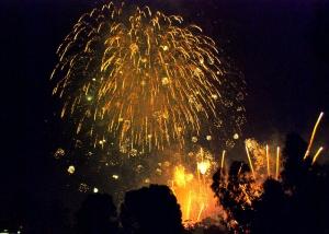Yarra Park New Year's Eve fireworks.