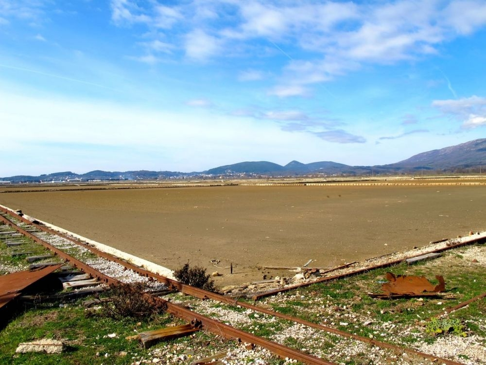 Ulcinj Salina Basins and Railway For Salt Transportation