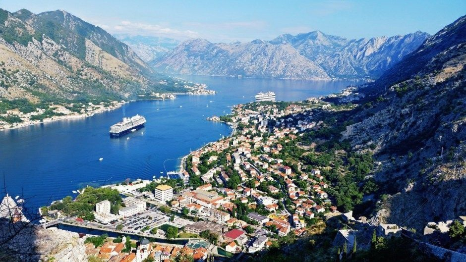 The View over Kotor Bay from the Top of the Fort