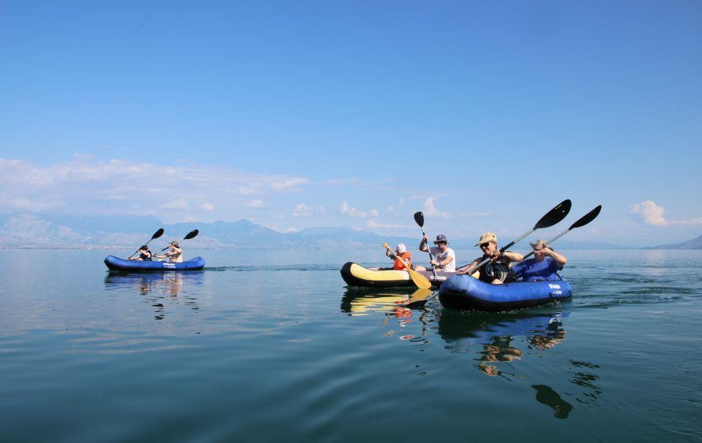 Kayaking on Skadar lake. Courtesy of www.undiscoveredMontenegro.com