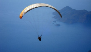Paragliding above Budva