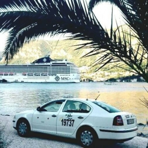 When on a cruise in Kotor, choose the safest taxi service